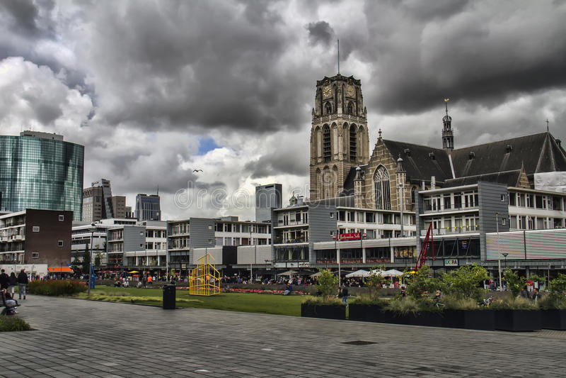 Grote Sint-Laurenskerk, Роттердама, Нидерландов стоковое фото