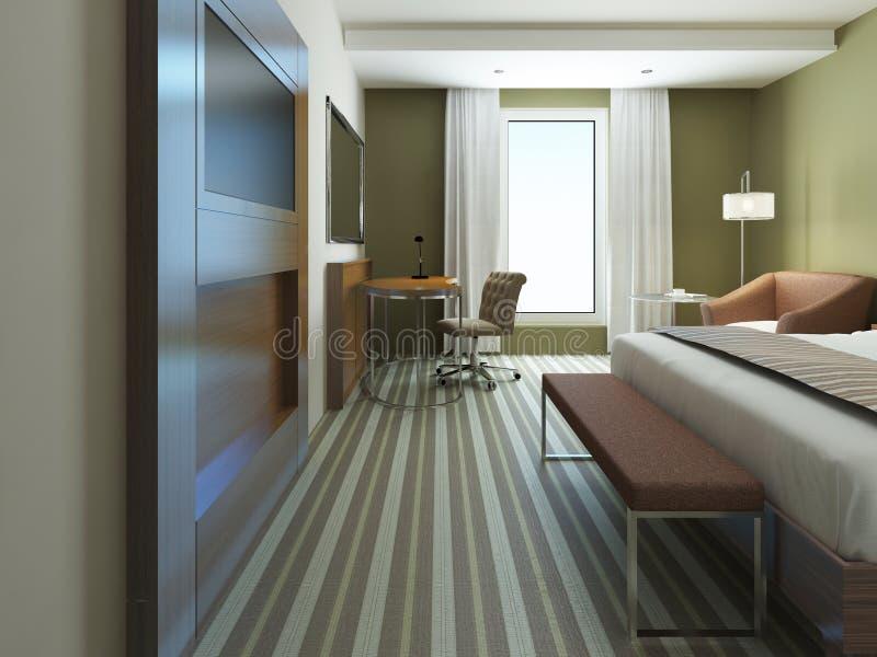 Grote Slaapkamer In Minimalistische Stijl Stock Foto - Afbeelding ...