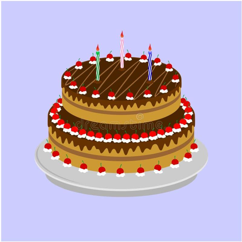 Grote smakelijke cakes royalty-vrije illustratie