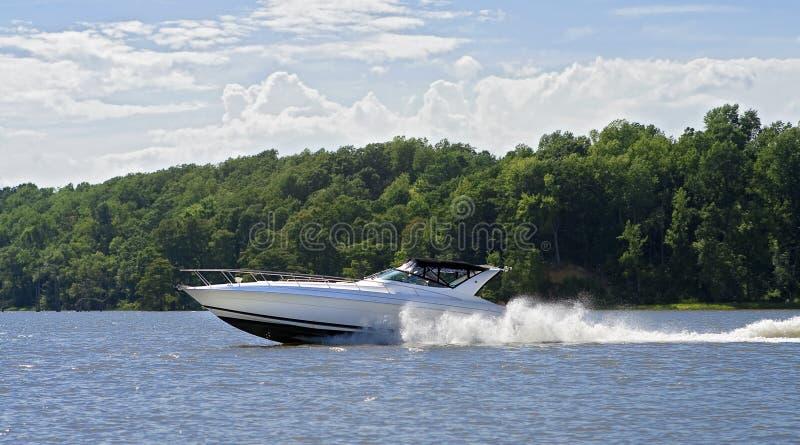 Grote snelheidsboot royalty-vrije stock foto's