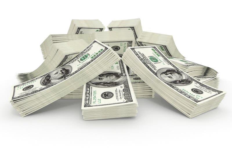 Grote som gelddollars stock illustratie