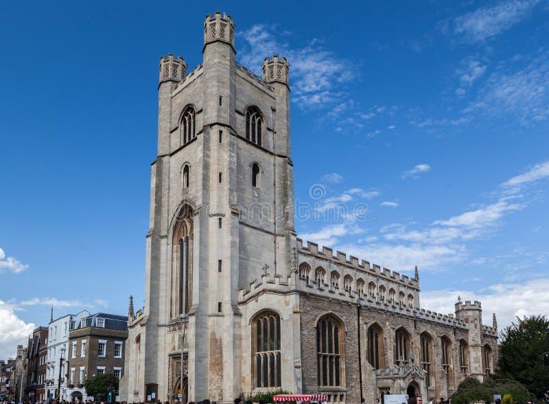 Grote St Mary Church Cambridge England royalty-vrije stock afbeelding