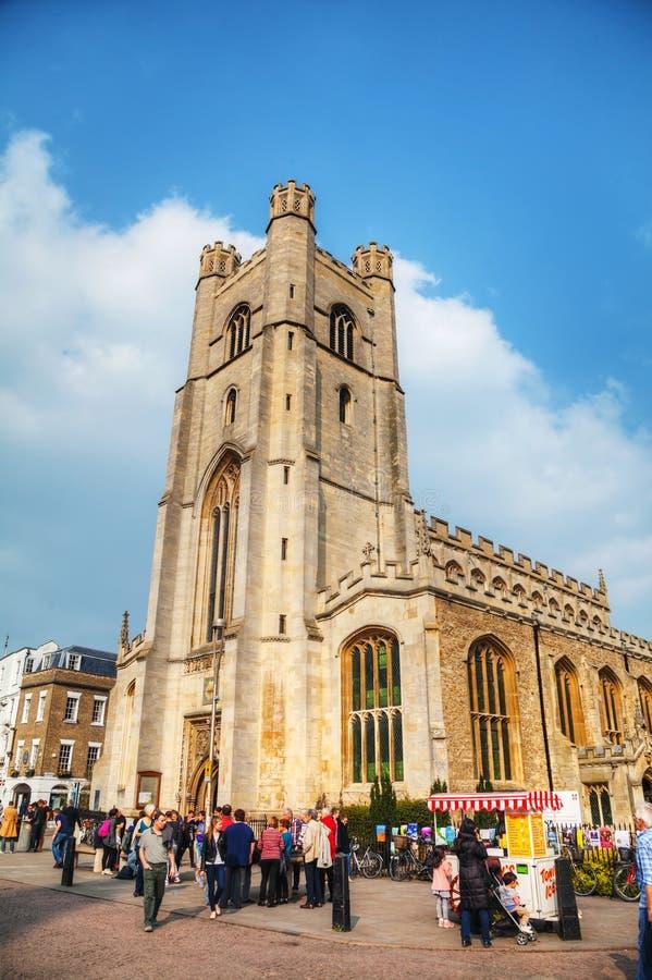 Grote St Mary Kerk in Cambridge, het UK stock foto's