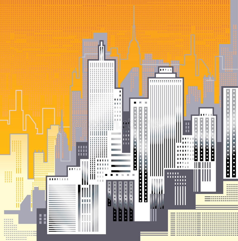 Grote Stad. royalty-vrije illustratie
