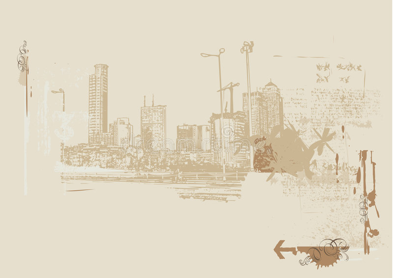 Grote Stad royalty-vrije illustratie