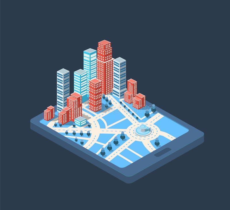 Grote stad vector illustratie