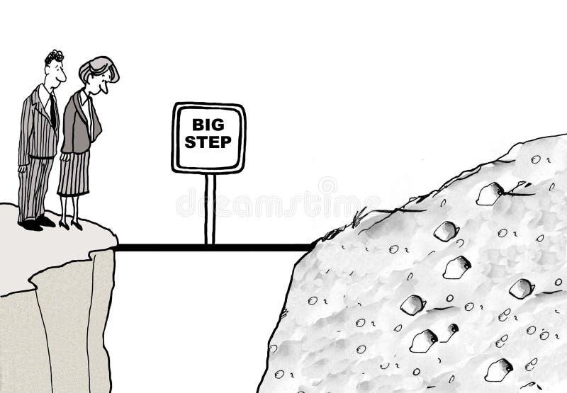 Grote stap stock illustratie