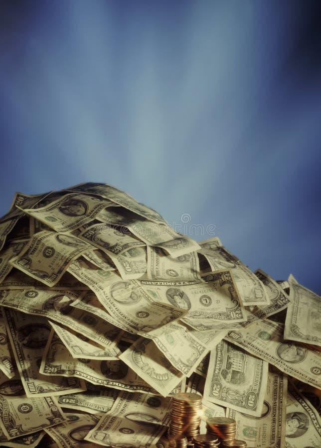 Grote stapel van contant geld stock foto