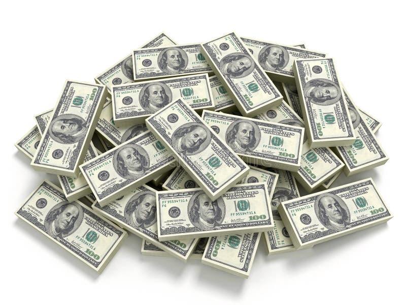 Grote stapel van het geld vector illustratie