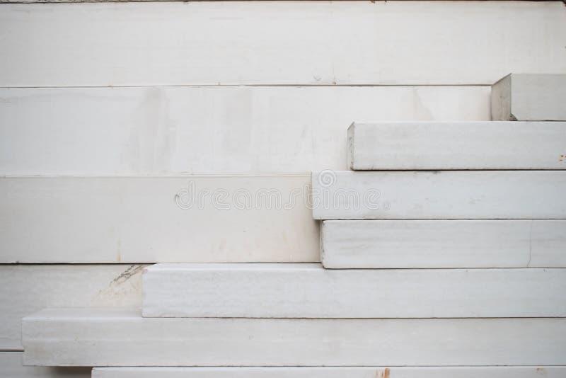 Grote stapel van wit beton royalty-vrije stock fotografie
