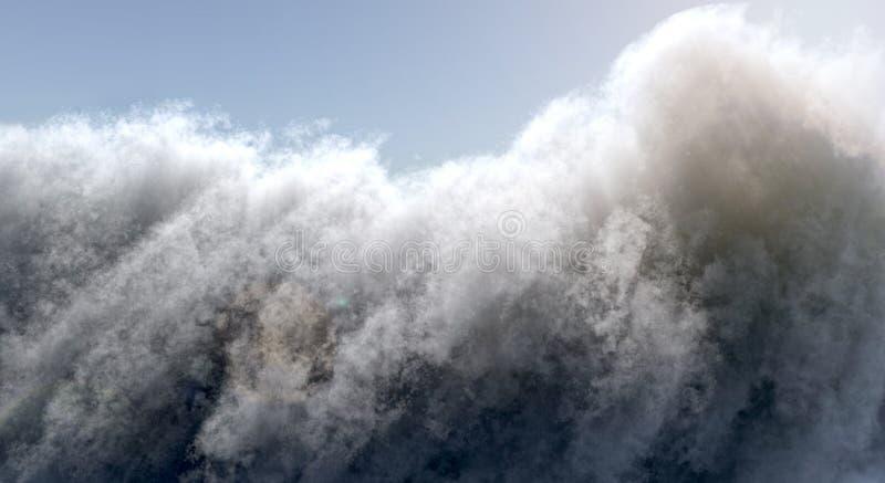 Grote Stormachtige Wolk met Zon royalty-vrije illustratie