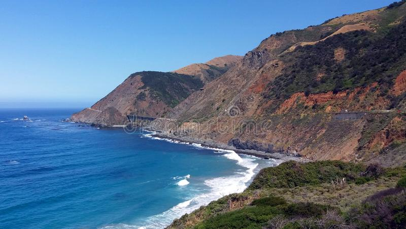 Grote Sur, Californi?, de V.S. stock foto's