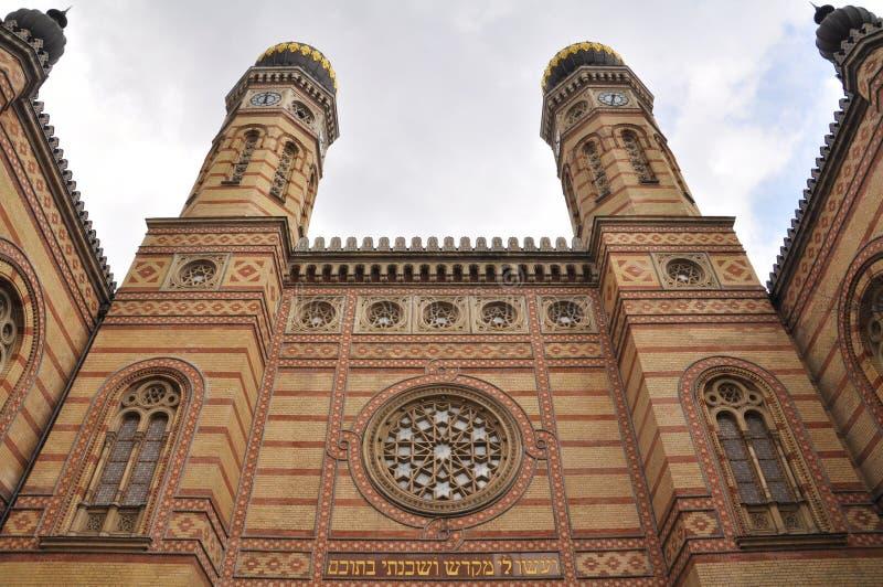 Grote Synagoge in Boedapest, Hongarije royalty-vrije stock afbeeldingen