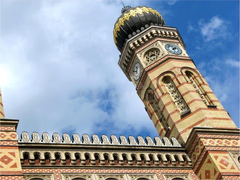 Grote synagoge in Boedapest, Hongarije stock afbeelding
