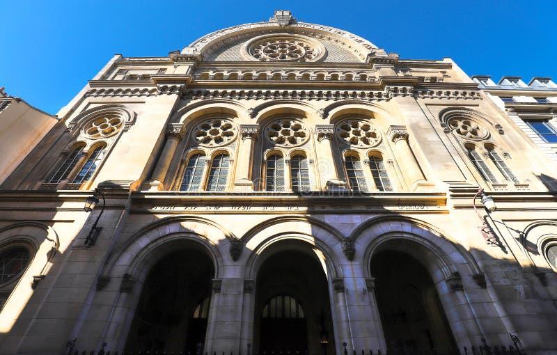 Grote synagoge van Parijs Ook genoemd geworden synagoge van La Victoire, is het de grootste synagoge in Frankrijk stock afbeelding