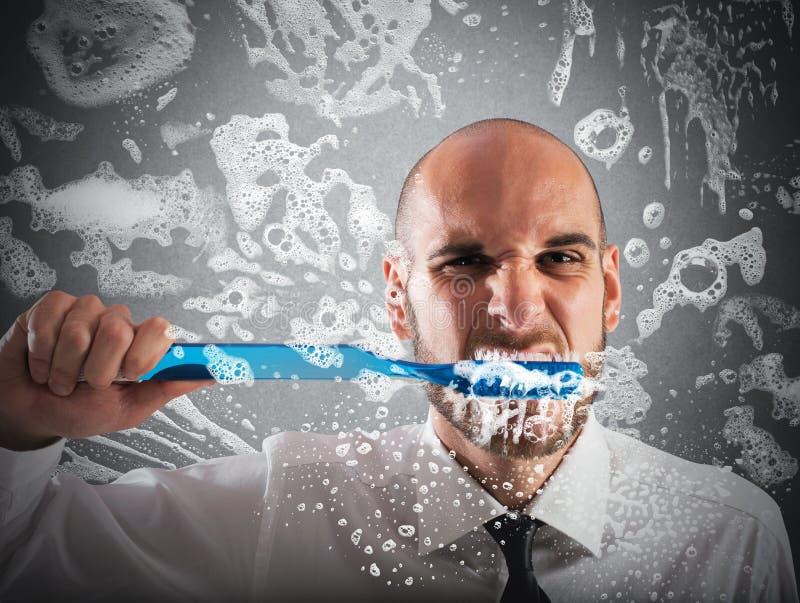 Grote tandenborstel stock foto's