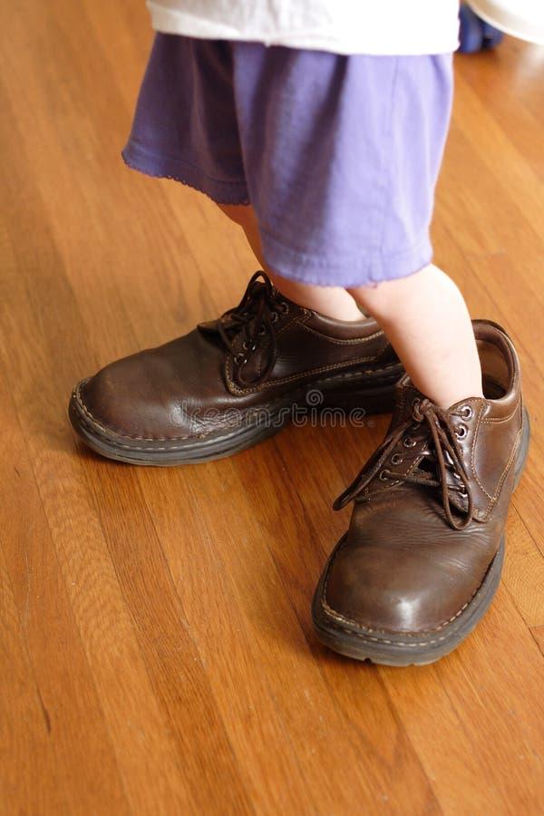 Grote Te vullen Schoenen stock fotografie