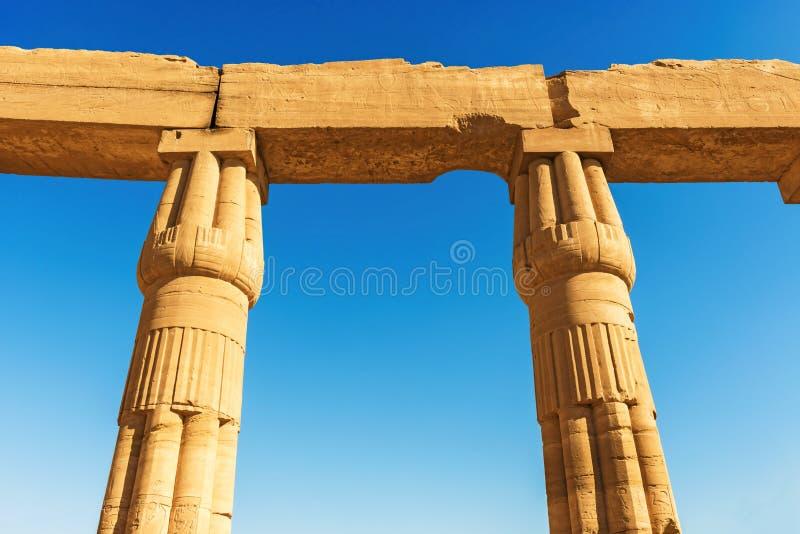 Grote Tempel van Amun in Karnak Luxor Egypte royalty-vrije stock fotografie