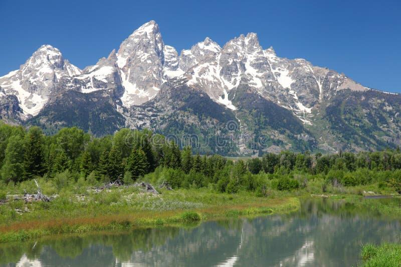 Grote Tetons in Wyoming royalty-vrije stock afbeelding