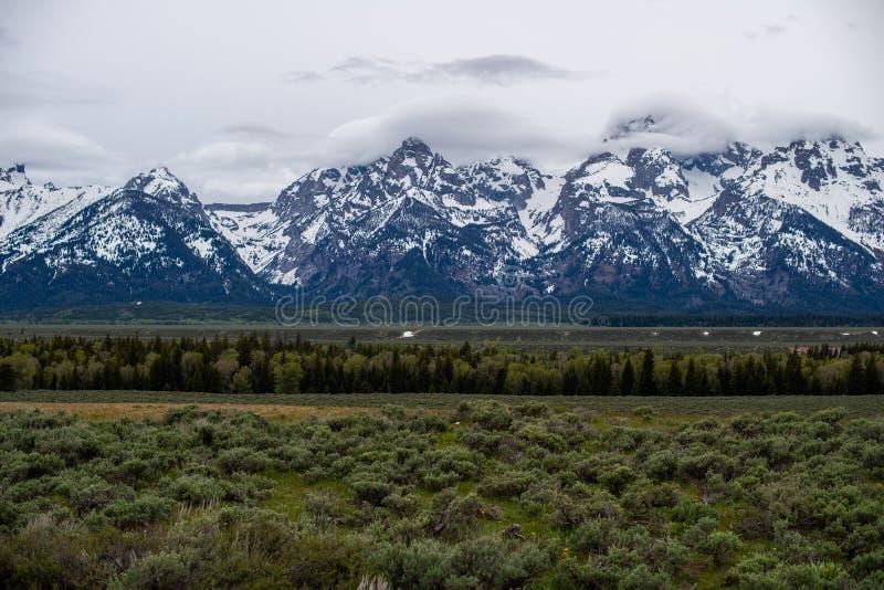 Grote tetonszonsopgang Wyoming royalty-vrije stock foto