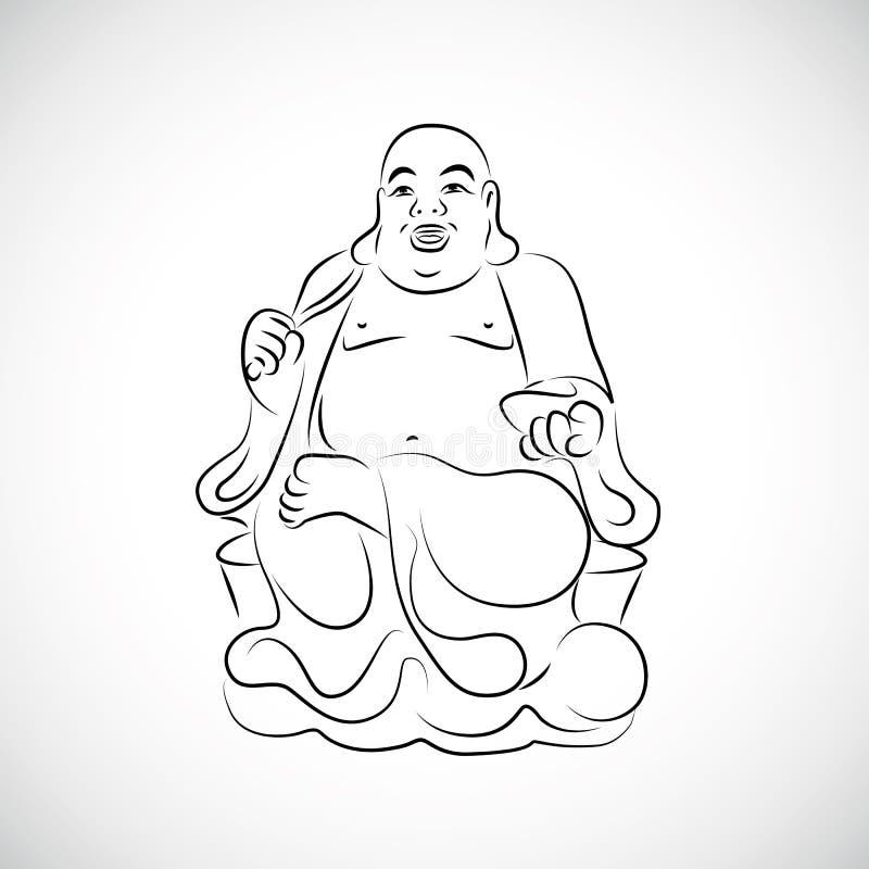 Grote Thaise het Standbeeldtekening van Boedha vector illustratie