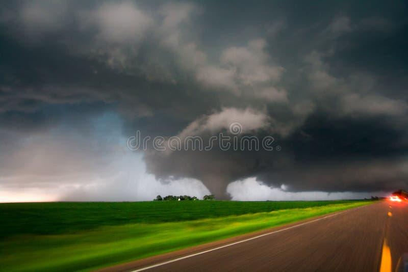Grote Tornado in Zuidelijk Minnesota royalty-vrije stock afbeelding