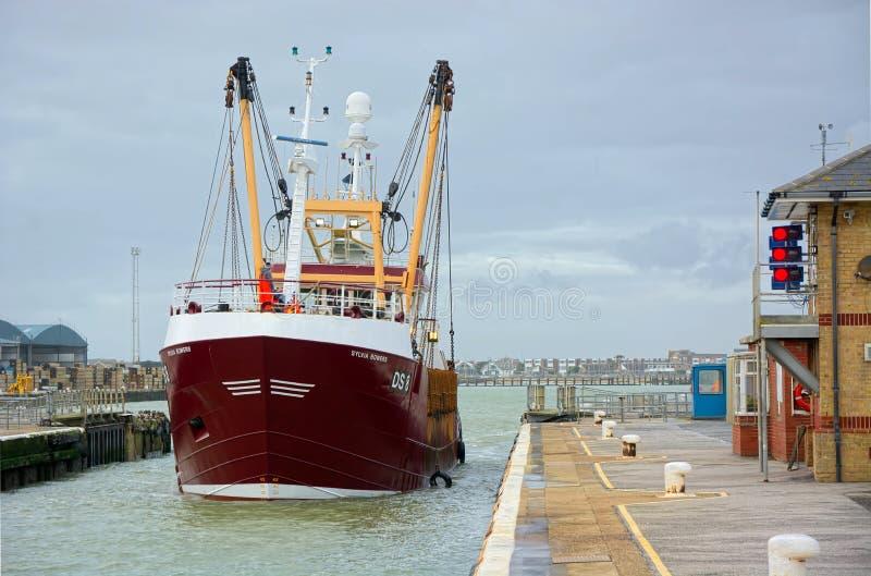 Grote vangst van vissen in knechtschap Sylvia Bowers Shorehamslot royalty-vrije stock foto