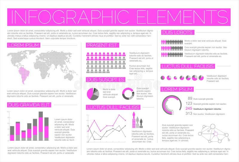 Grote Vectorreeks elementen Infographic stock illustratie