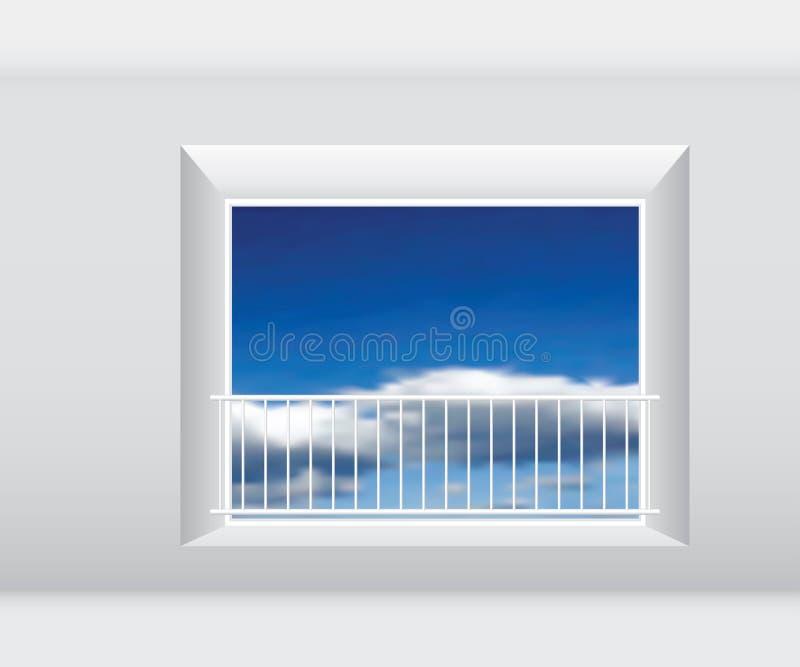 Grote vensteromheining stock illustratie