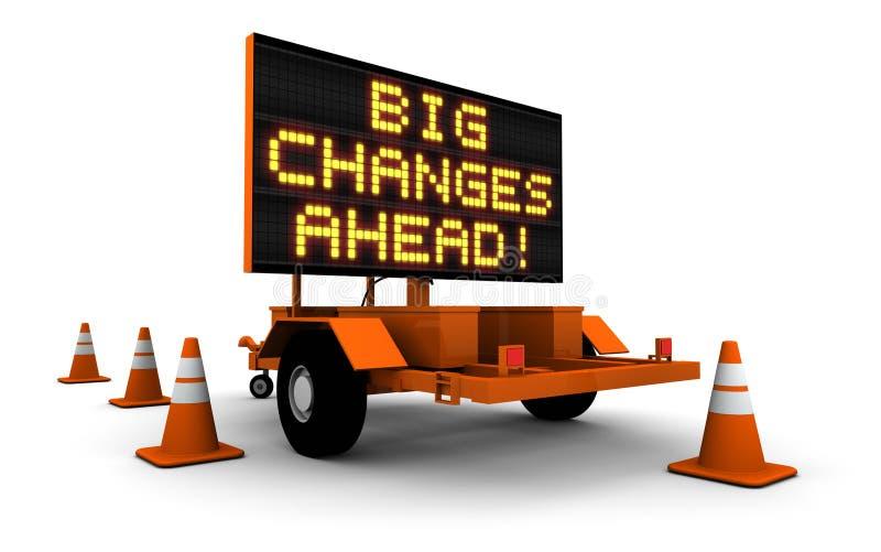 Grote Veranderingen - het Bericht van het Teken van de Bouw royalty-vrije illustratie
