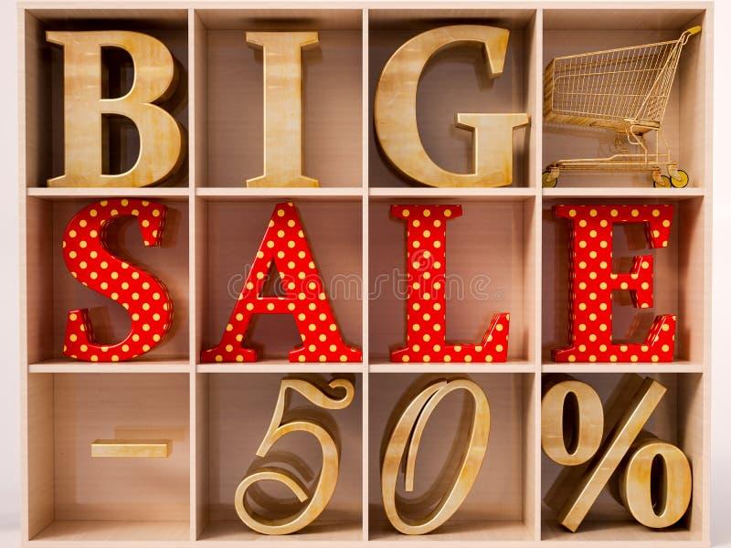 Grote verkooptekst royalty-vrije stock afbeelding