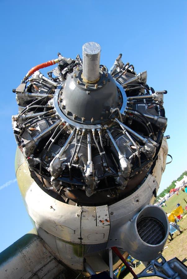 Grote vliegtuigenmotor royalty-vrije stock afbeeldingen