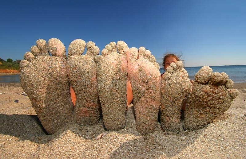 Grote voet stock foto's