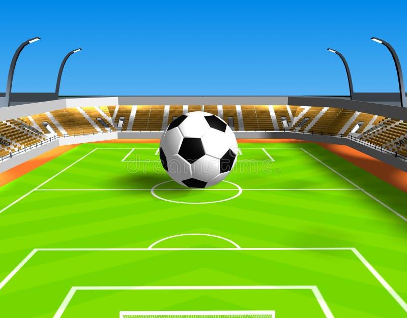 Grote voetbalbal royalty-vrije stock afbeelding