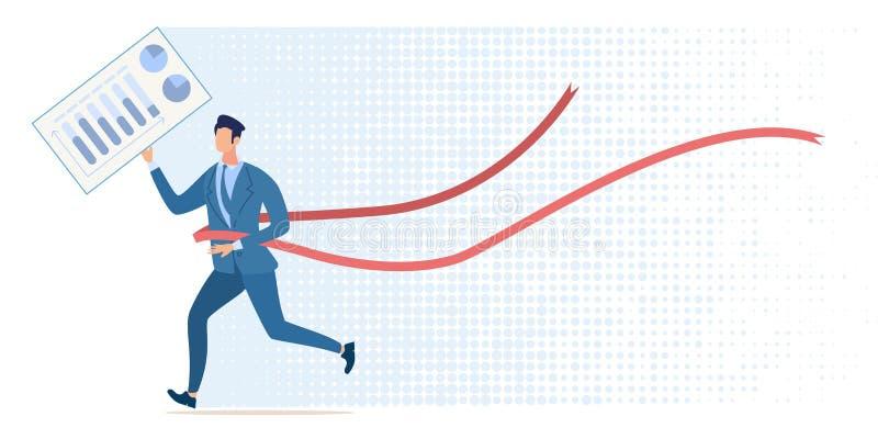 Grote Voltooiing in Bedrijfs Vlak Vectorconcept royalty-vrije illustratie
