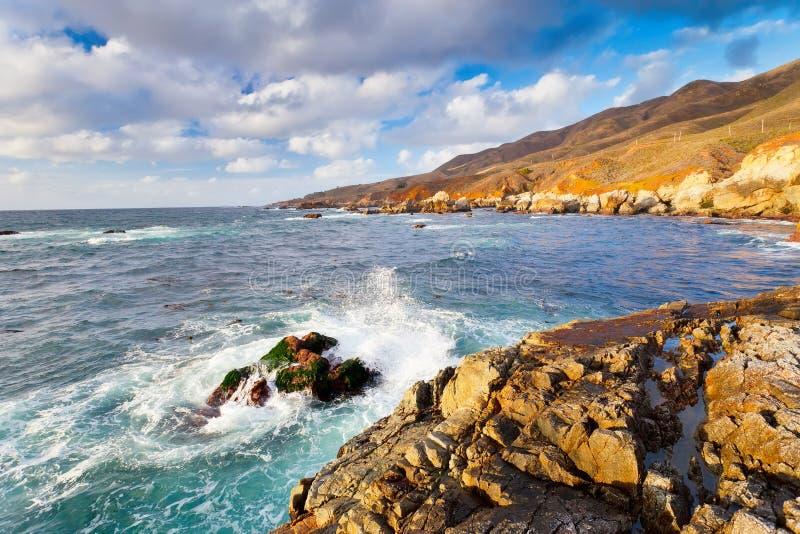 Grote Vreedzame Oceaankust Sur royalty-vrije stock afbeelding