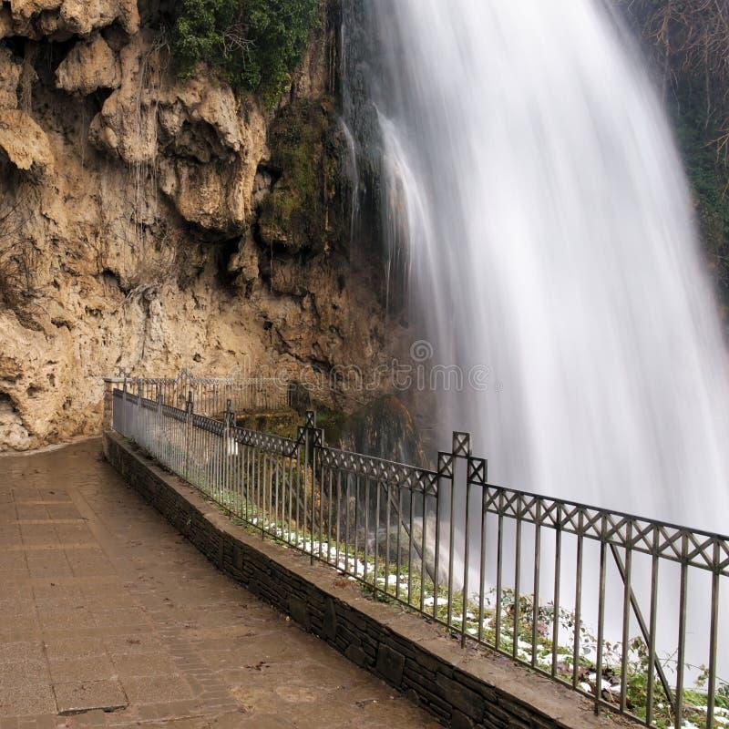 Grote waterval bij Edessa-dalingen van Griekenland royalty-vrije stock foto's