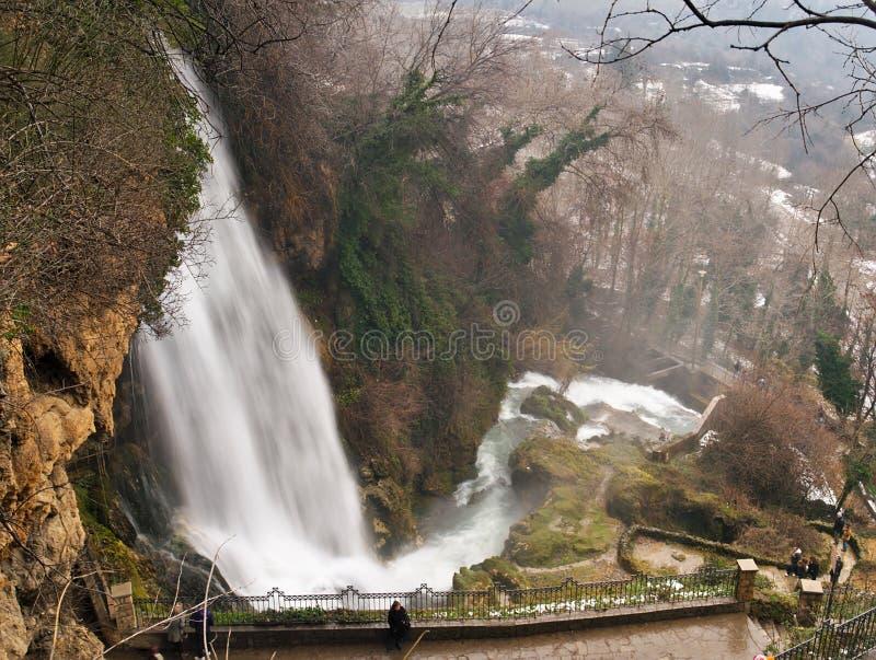 Grote waterval bij Edessa-dalingen van Griekenland stock fotografie