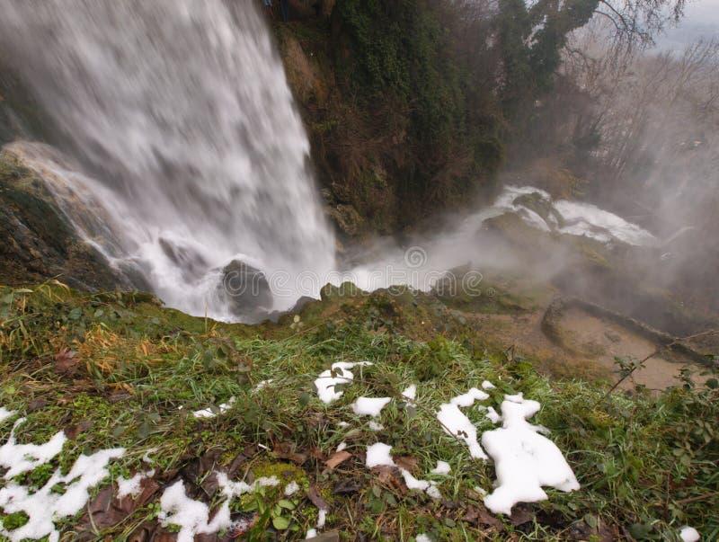 Grote waterval bij Edessa-dalingen van Griekenland stock afbeeldingen