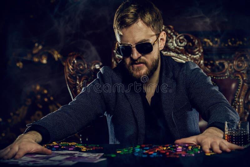 Grote winst in casino royalty-vrije stock fotografie