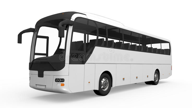 Grote Witte Reisbus stock illustratie