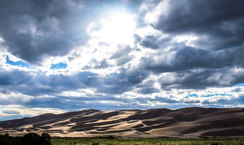Grote Wonder van het Parkcolorado van het Zandduin Nationale Natuurlijke Zonstralen royalty-vrije stock foto