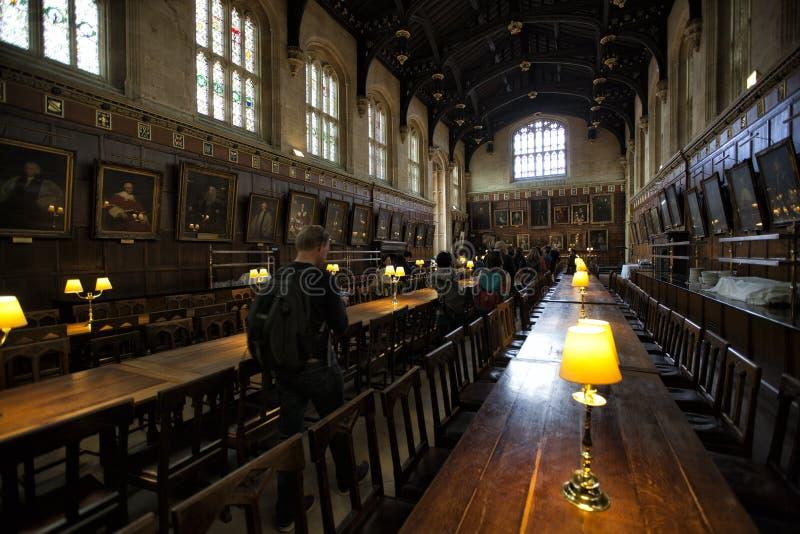 Grote Zaal, de Kerkuniversiteit van Christus, Oxford stock foto's