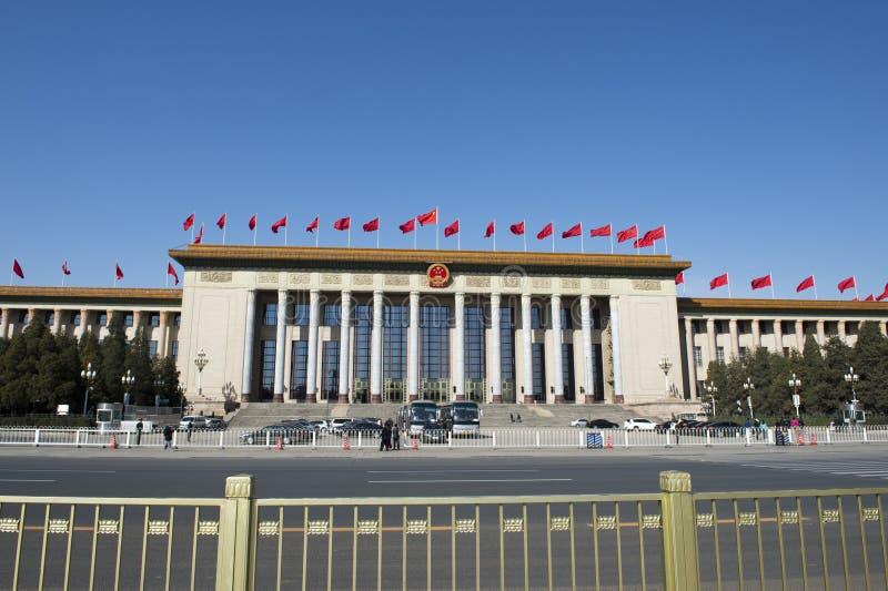 Grote Zaal van de Mensen, Peking stock afbeelding