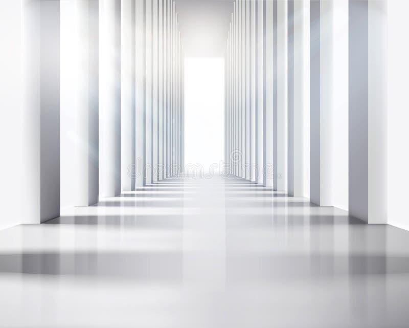 Grote zaal. Vectorillustratie. vector illustratie