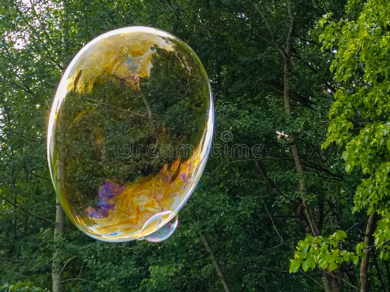 Grote zeepbel royalty-vrije stock foto