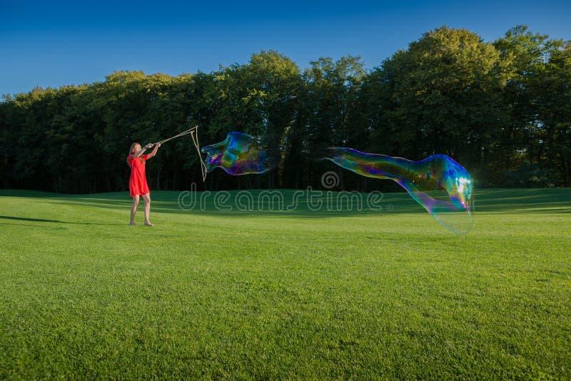Grote zeepbels royalty-vrije stock afbeelding