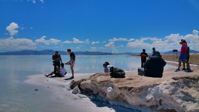 Grote zoutmeren, salar royalty-vrije stock afbeelding