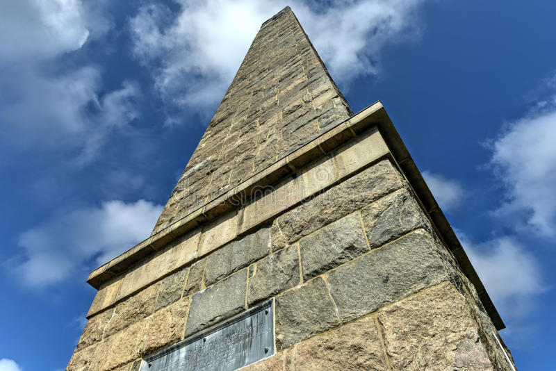 Groton Monument - Connecticut. The Groton Monument, also called the Fort Griswold Monument, is a granite monument in Groton, Connecticut dedicated to the royalty free stock images