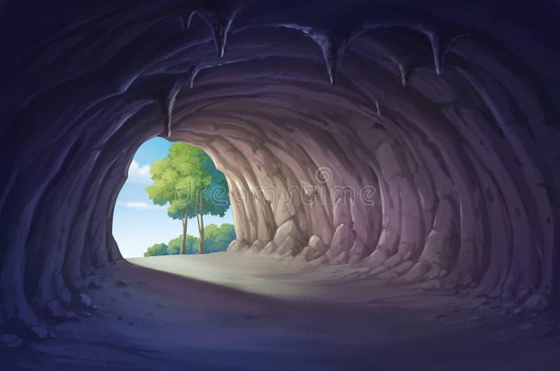 grotta royaltyfri illustrationer